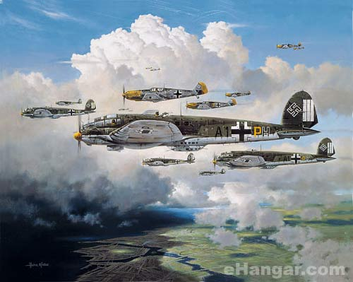 Aviation Art - Out for Trouble by Heinz Krebs